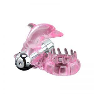 Baile Anillo Vibrador Love Dolphig Ring Rosa marca BAILE