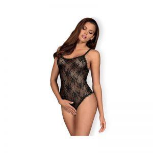 Behindy Teddy Entrepierna Abierta Negro diseñado por la marca OBSESSIVE