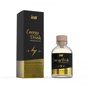 Gel de Masage Energy Drink 30 ml diseñado por la marca INTT