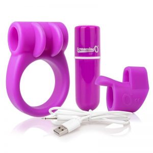 Kit Bala Vibradora Charged Purple Color Purpura diseñado por la marca SCREAMINGO
