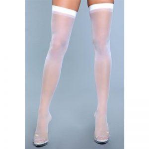 Medias Best Behavior Thigh Highs Blanco diseñado por la marca BE WICKED