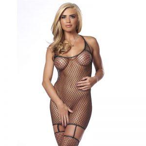 Mini Vestido de Rejilla Talla Única de la marca AMORABLE