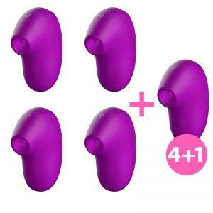 Pack 4+1 Cult Succionador Clitoris Ondas Energéticas New Generation Purpura diseñado por la marca W