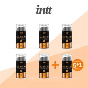 Pack 5+1 Gel Potenciador Ereccion Inflate XXL 15 l diseñado por la marca INTT