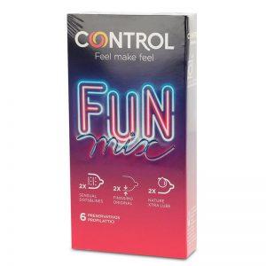 Preservativos Fun Mix 6 unidades diseñado por la marca CONTROL