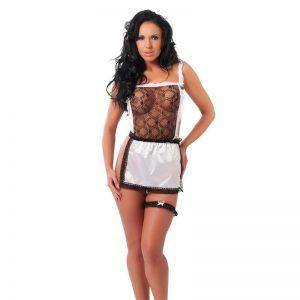 Rimba Amorable Disfraz de Sirvienta Color Negro y Blanco Talla Única barato