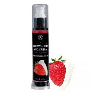Secret Play Lubricante Efecto Calor Fresas con Nata 50 ml barato
