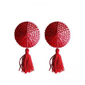 Shots Ouch! Pezoneras Redondas Color Rojo barato